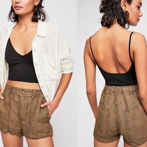 New Free People Beacon Linen Utility Shorts!